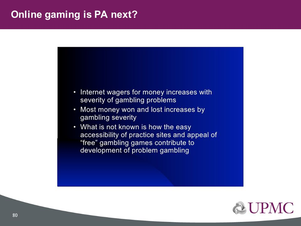 Online gaming is PA next