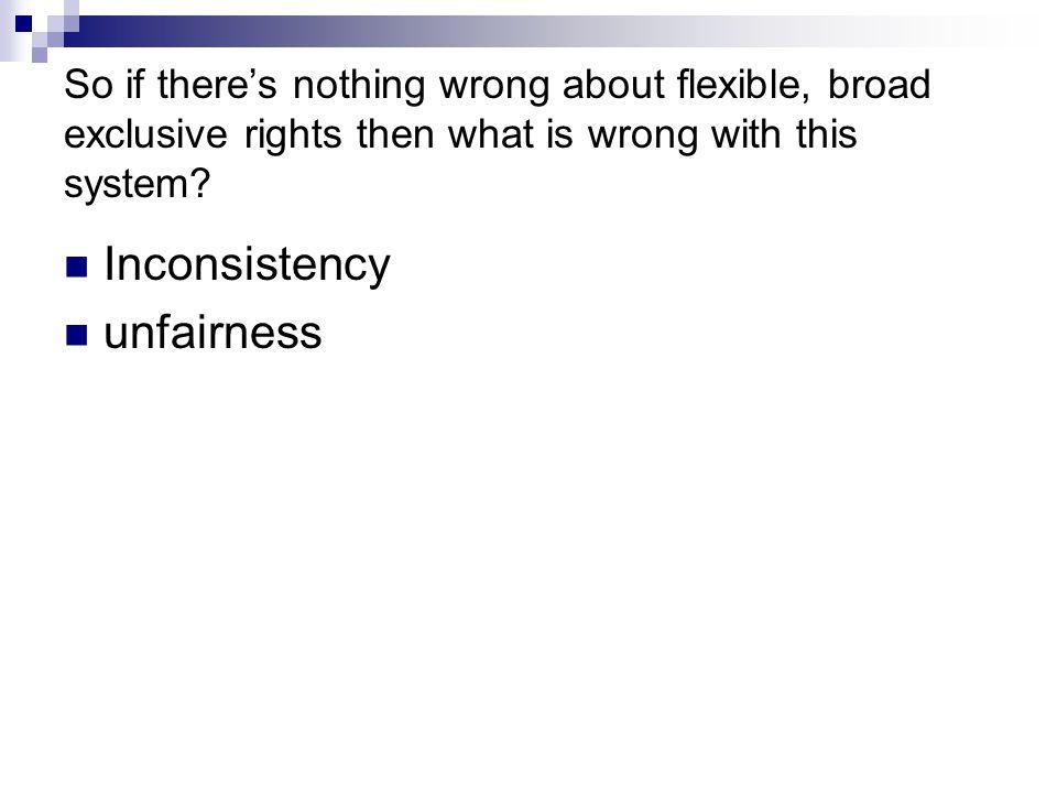 Inconsistency unfairness