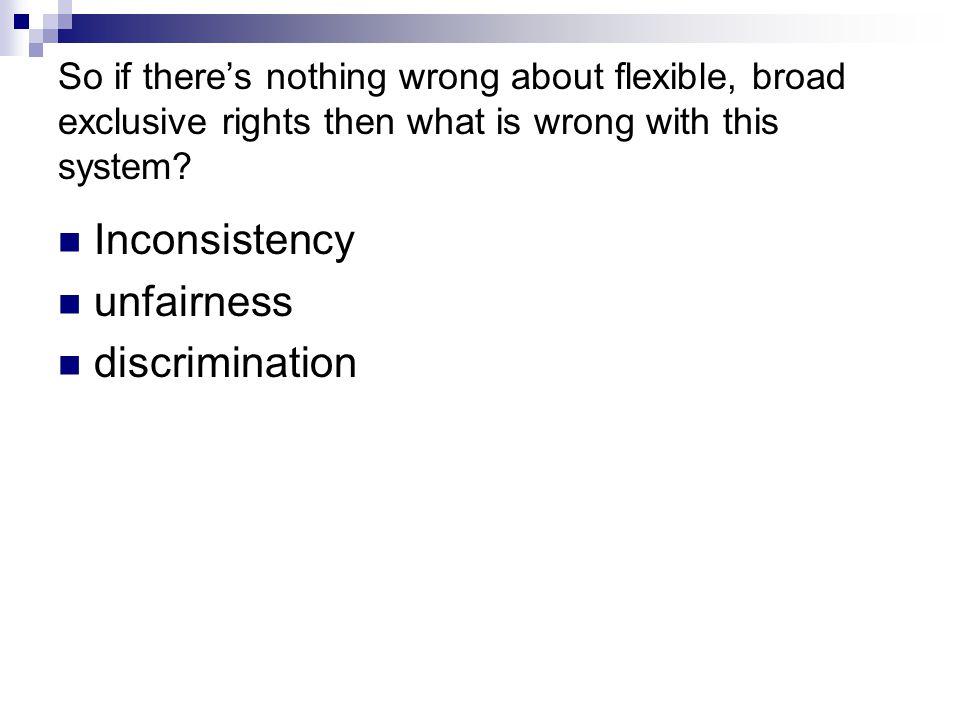Inconsistency unfairness discrimination