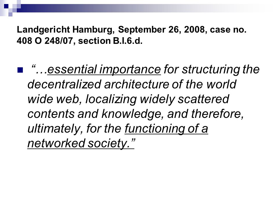 Landgericht Hamburg, September 26, 2008, case no