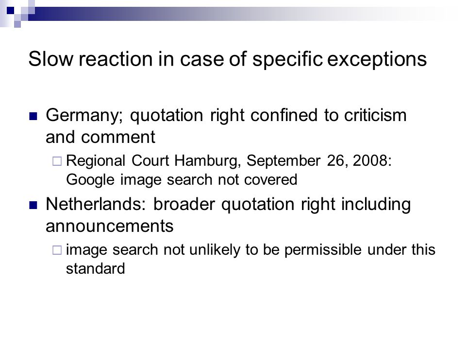 Slow reaction in case of specific exceptions