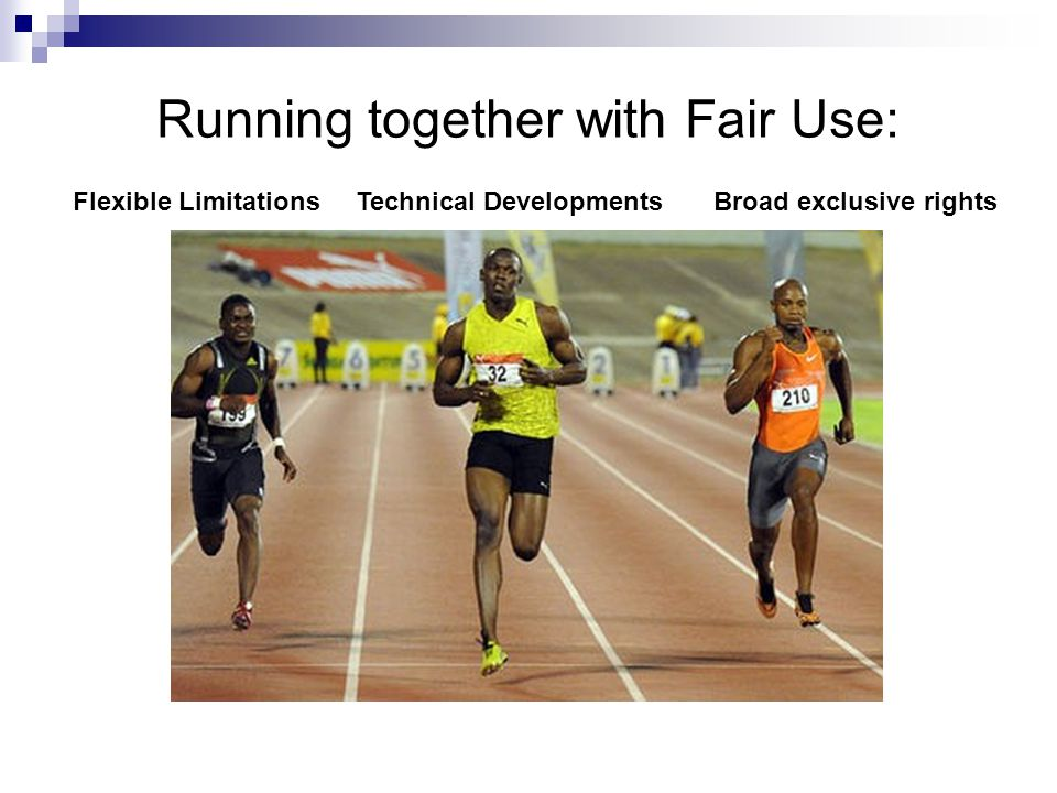 Running together with Fair Use: