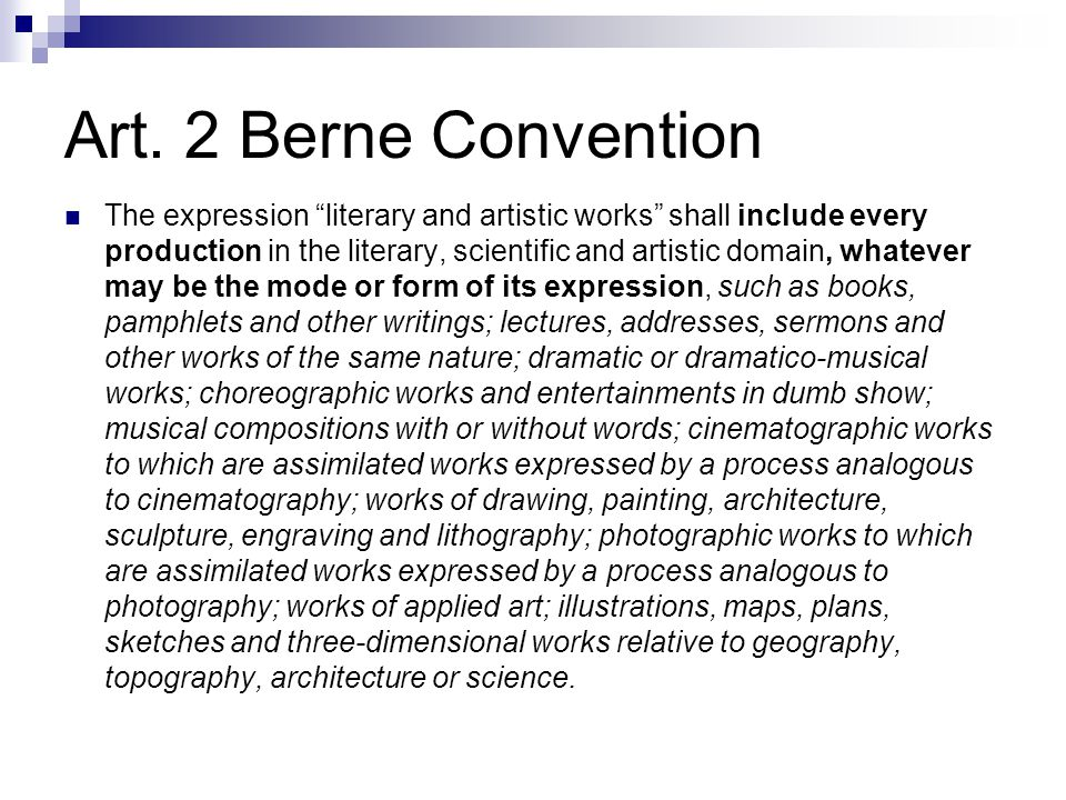 Art. 2 Berne Convention