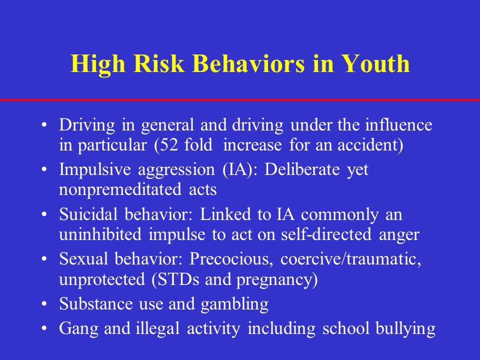 High Risk Behaviors in Youth