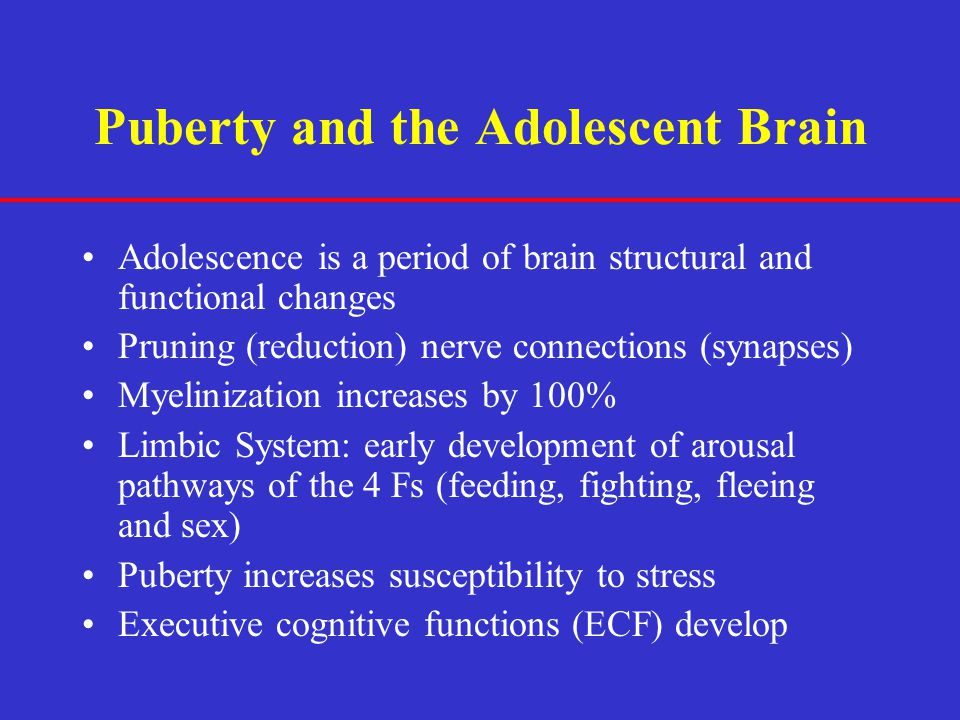 Puberty and the Adolescent Brain