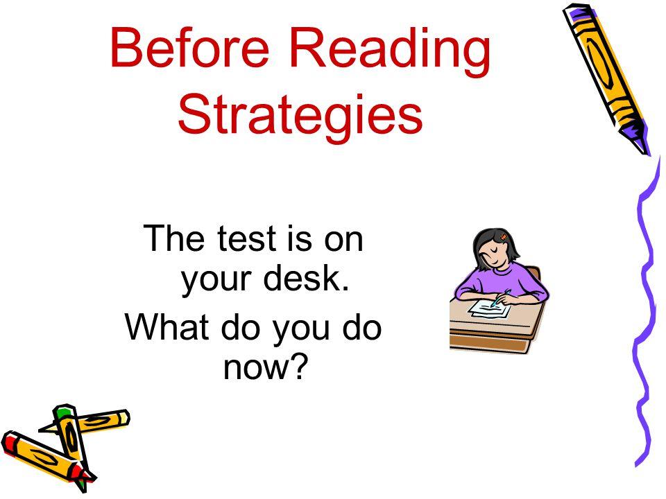 Before Reading Strategies