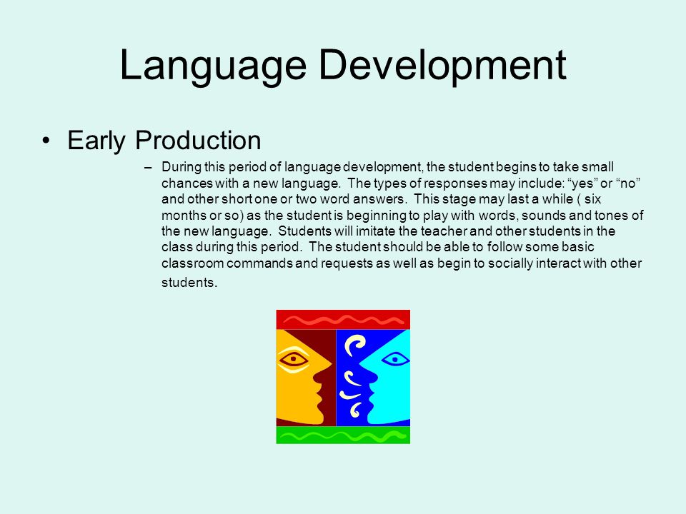 Language Development Early Production