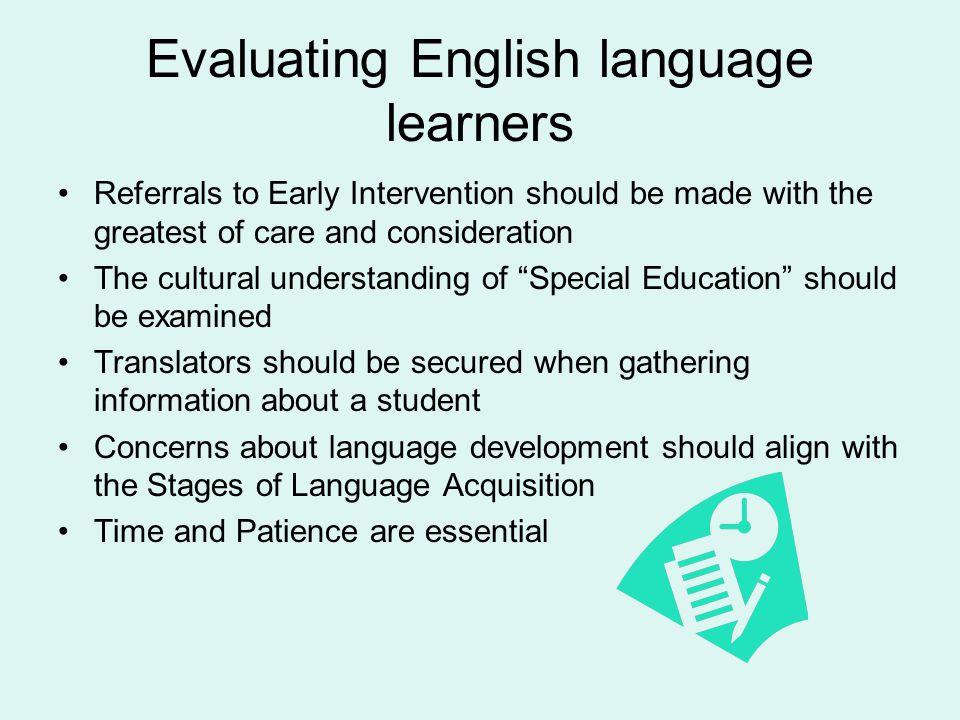 Evaluating English language learners