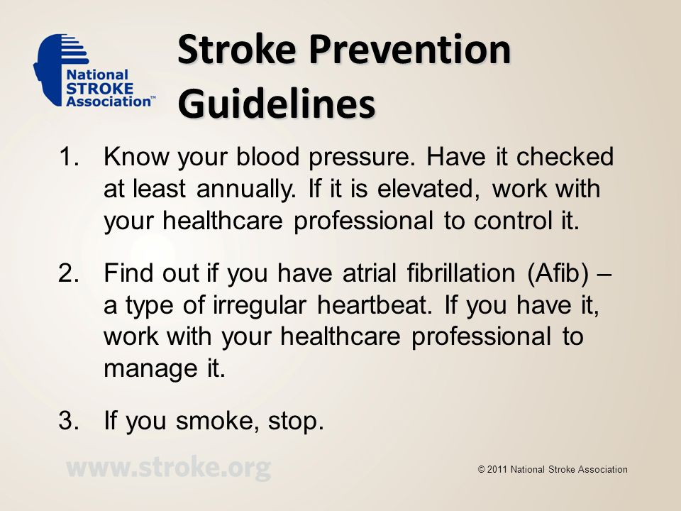 Stroke Prevention Guidelines