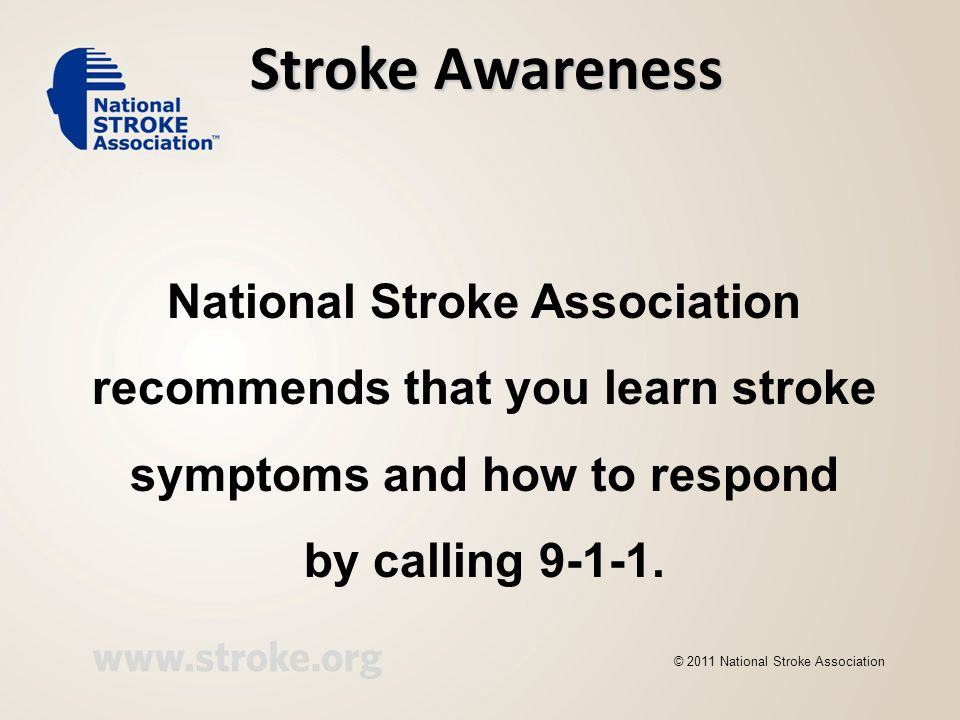 Stroke Awareness National Stroke Association
