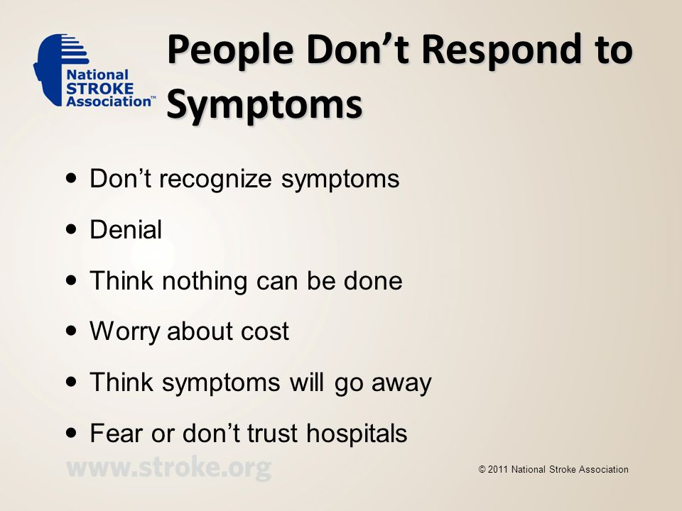 People Don't Respond to Symptoms