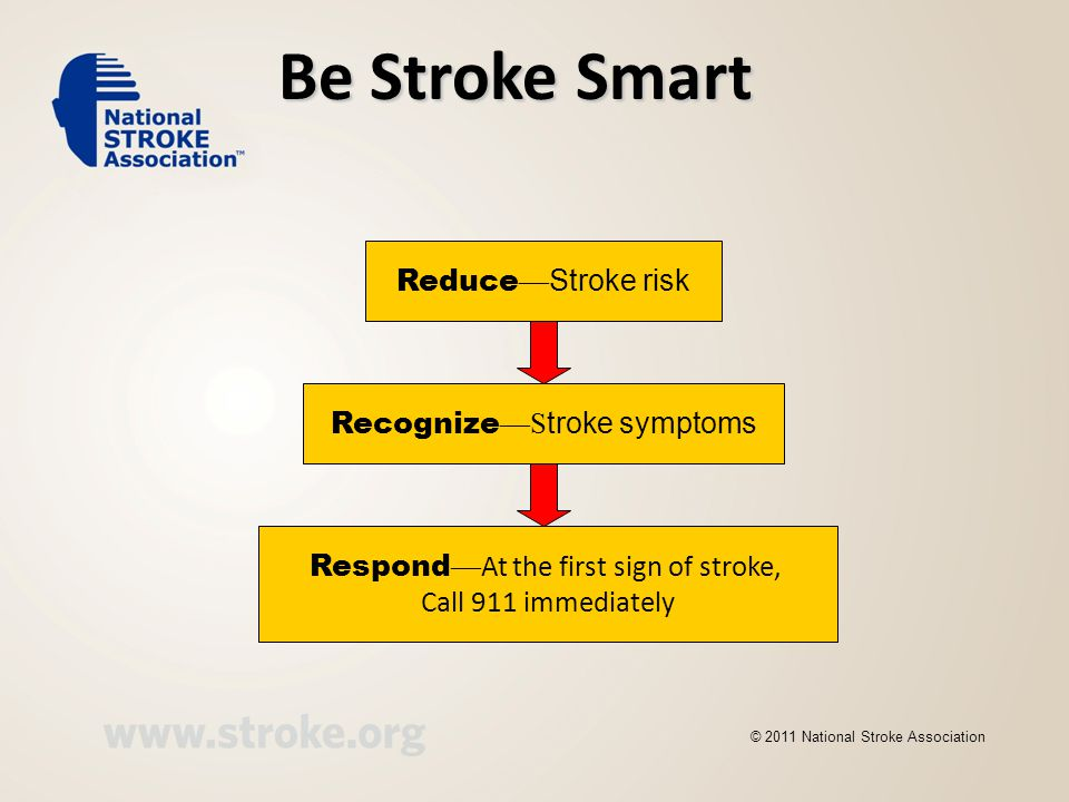 We want you to know and understand the three R's of stroke:
