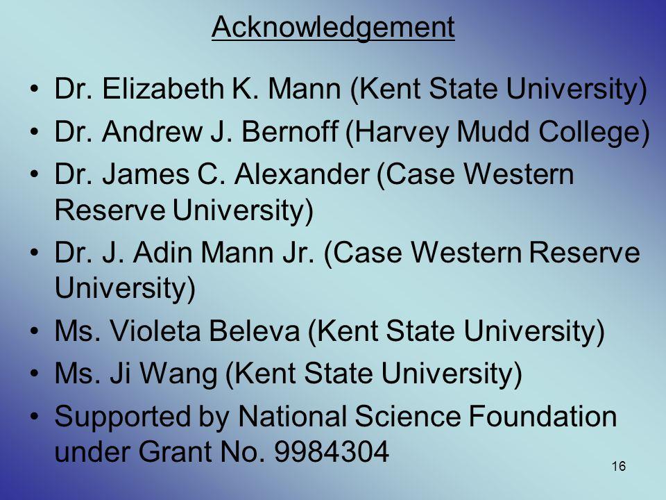Dr. Elizabeth K. Mann (Kent State University)