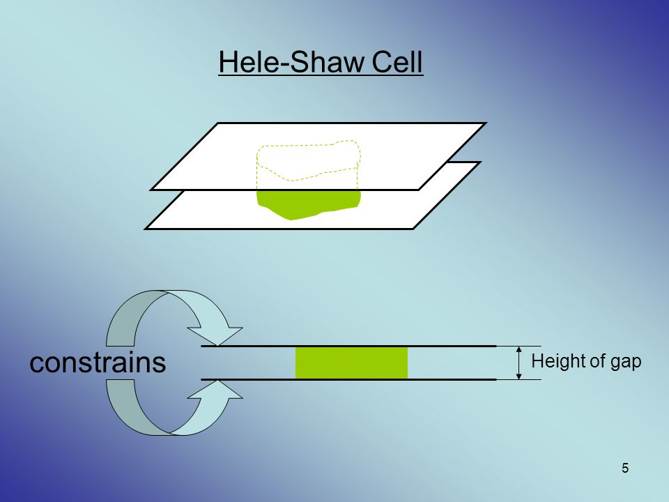 Hele-Shaw Cell constrains Height of gap