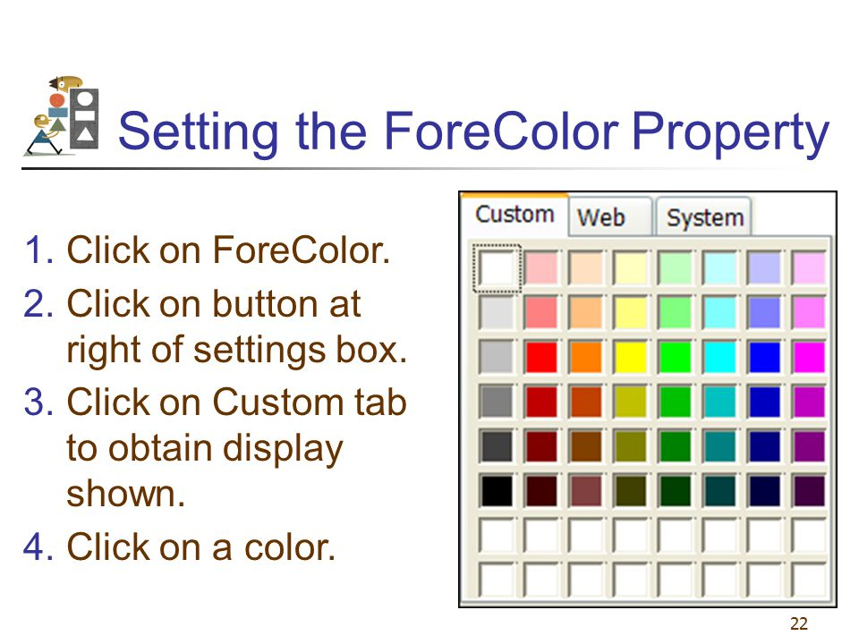 Setting the ForeColor Property