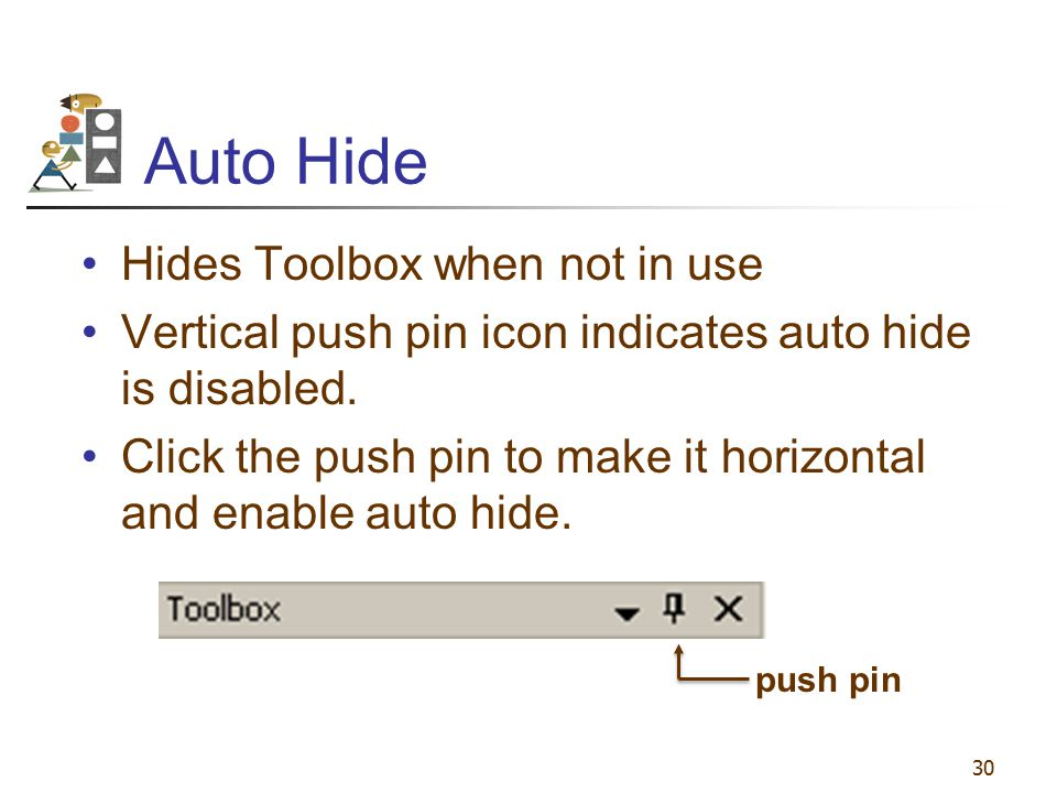 Auto Hide Hides Toolbox when not in use