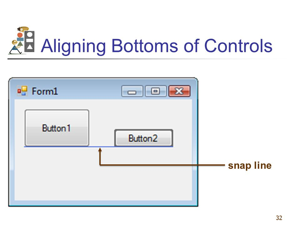 Aligning Bottoms of Controls