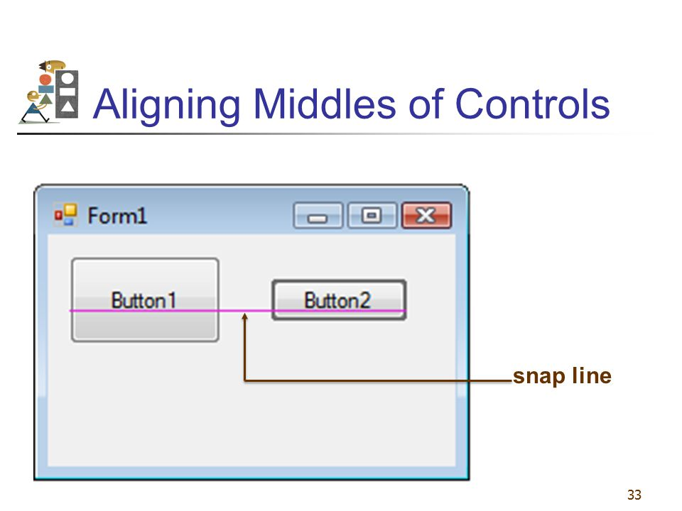 Aligning Middles of Controls
