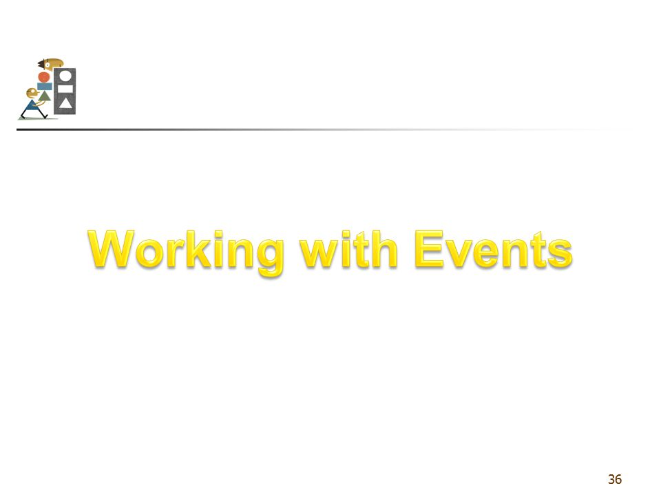 Working with Events