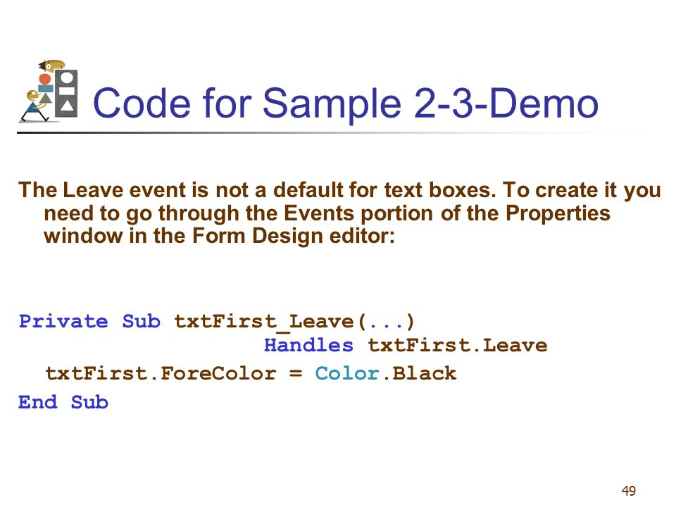 Code for Sample 2-3-Demo