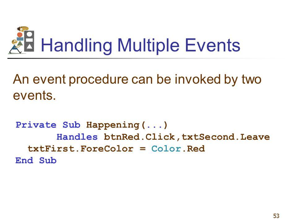 Handling Multiple Events