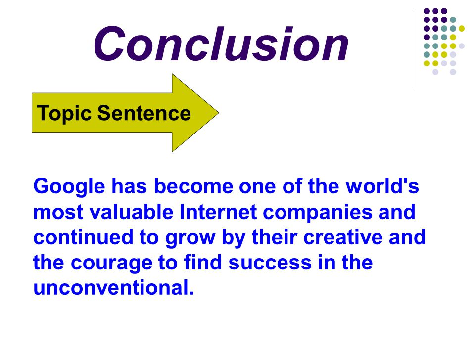 Conclusion Topic Sentence