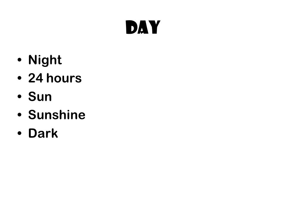 Day Night 24 hours Sun Sunshine Dark