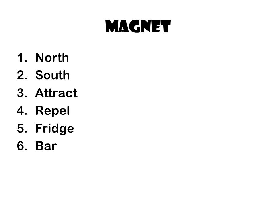 magnet North South Attract Repel Fridge Bar