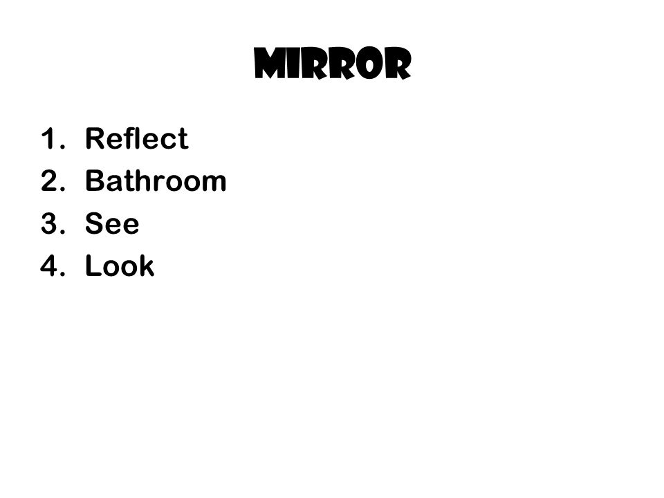 Mirror Reflect Bathroom See Look