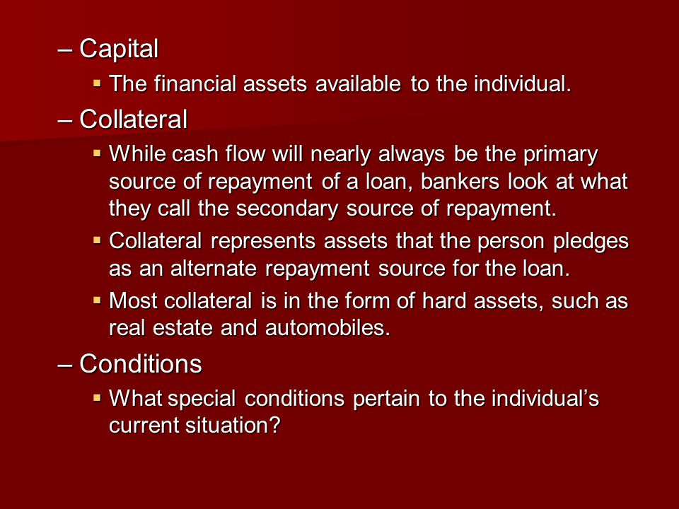 Capital Collateral Conditions