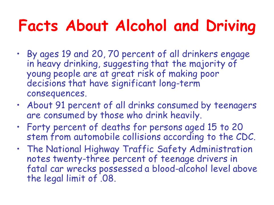 Facts About Alcohol and Driving