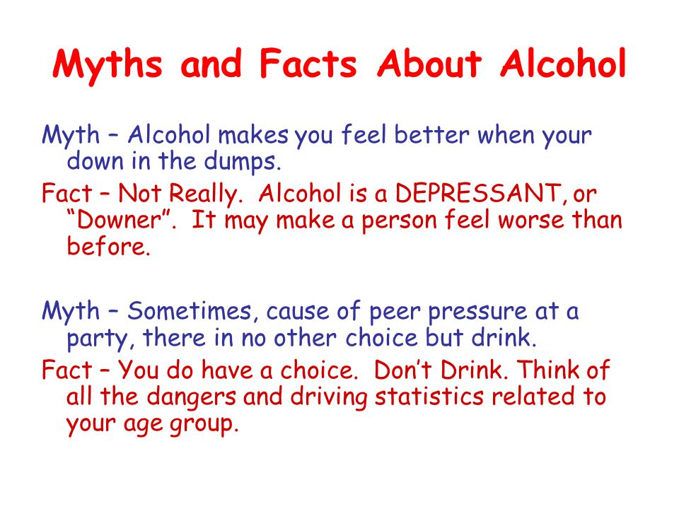 Myths and Facts About Alcohol