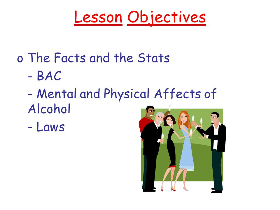 Lesson Objectives The Facts and the Stats - BAC