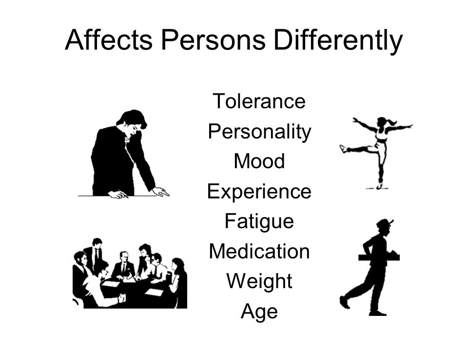 Affects Persons Differently