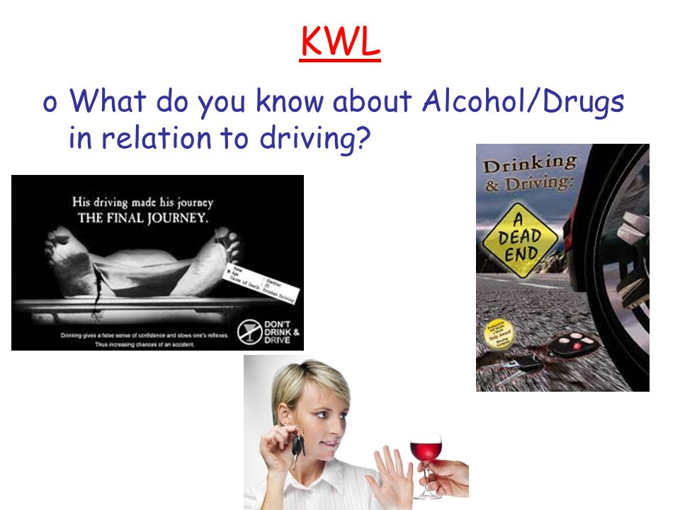 KWL What do you know about Alcohol/Drugs in relation to driving