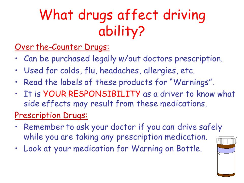 What drugs affect driving ability