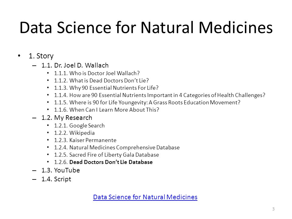 Data Science for Natural Medicines