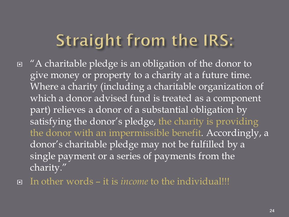 Straight from the IRS: