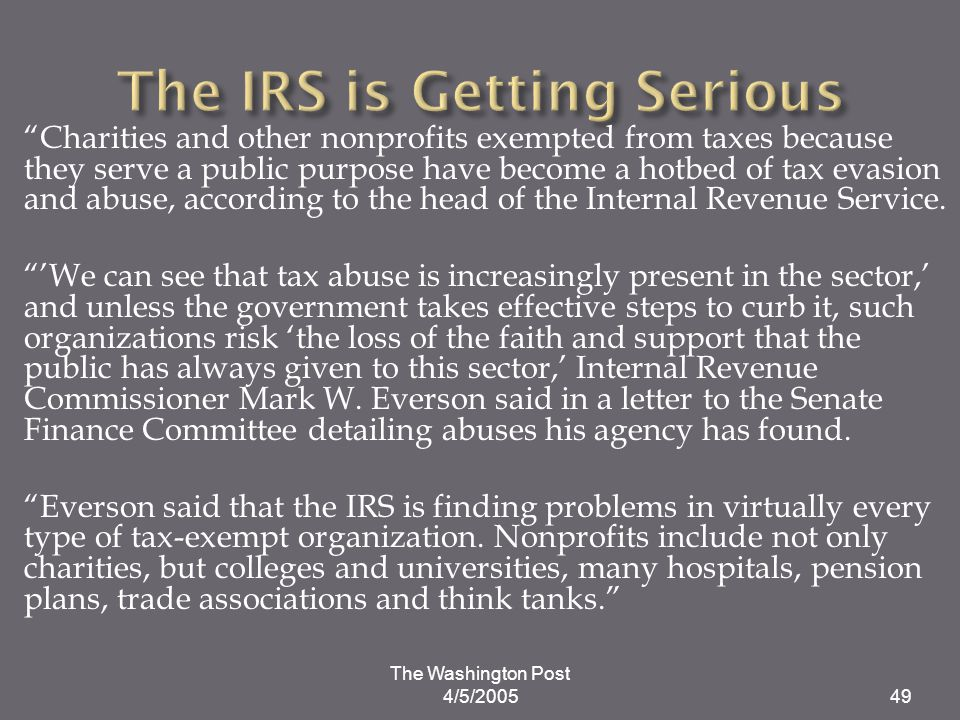 The IRS is Getting Serious