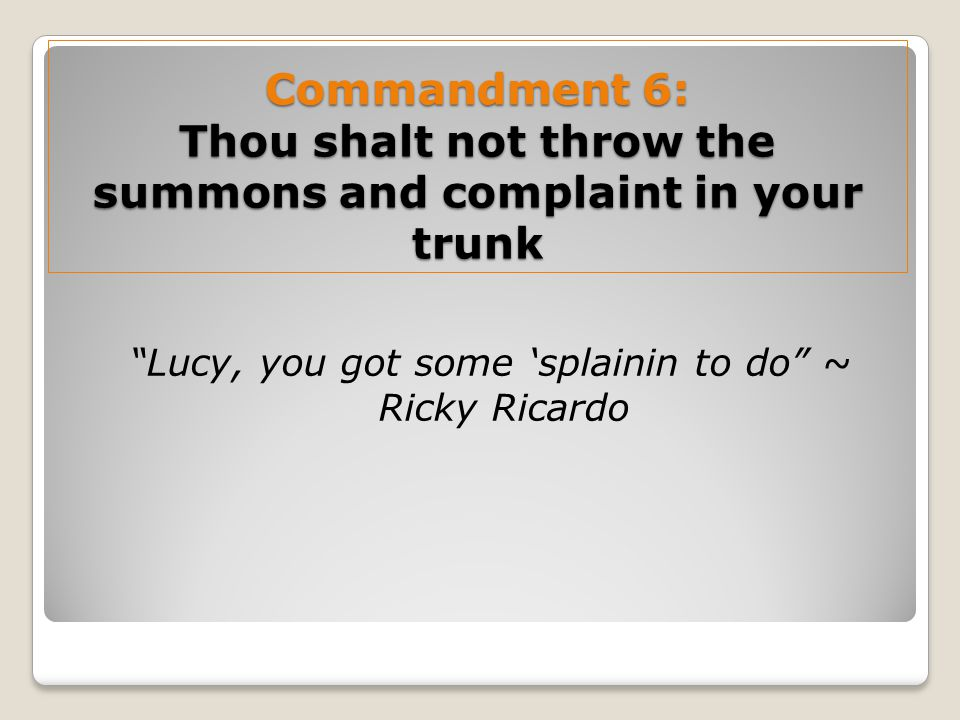 Lucy, you got some 'splainin to do ~ Ricky Ricardo