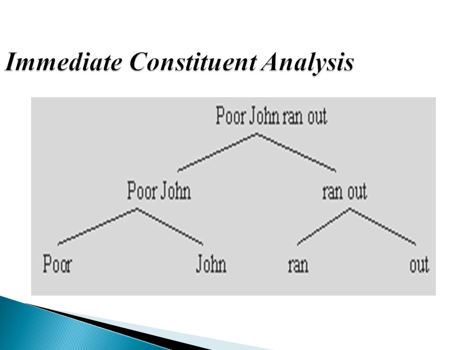 Immediate Constituent Analysis
