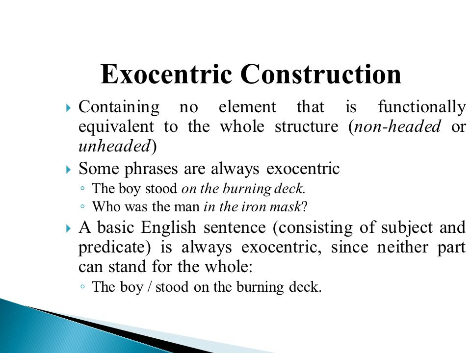Exocentric Construction