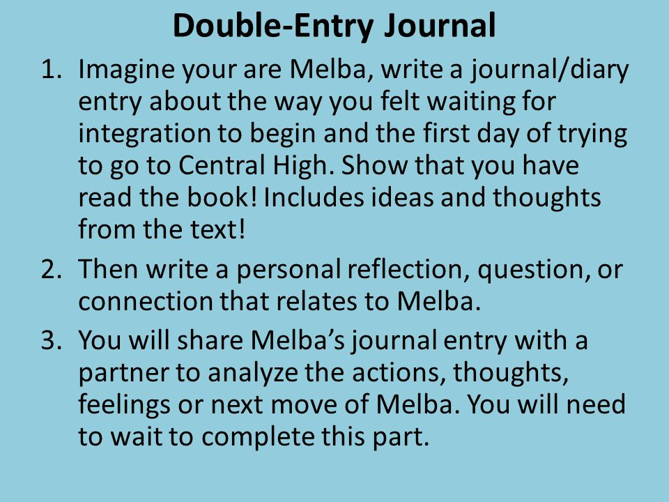 Double-Entry Journal