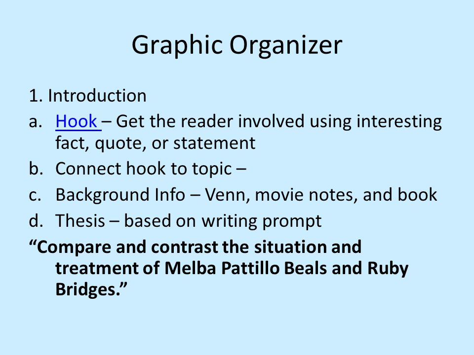 Graphic Organizer 1. Introduction