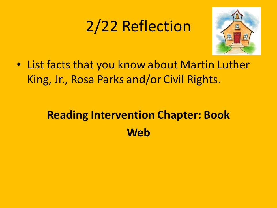 Reading Intervention Chapter: Book