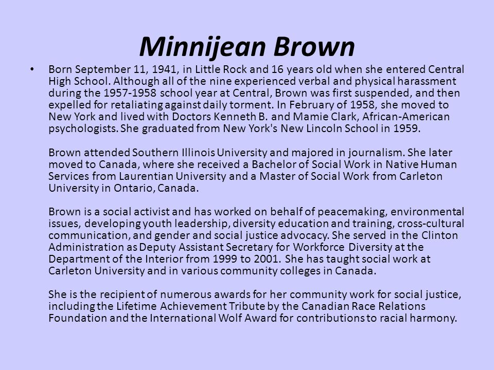 Minnijean Brown