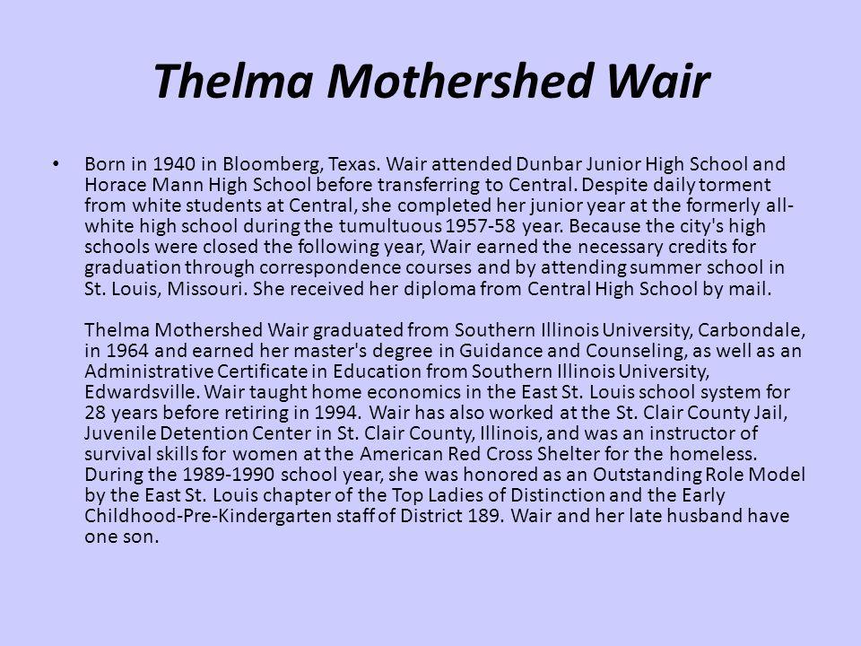 Thelma Mothershed Wair