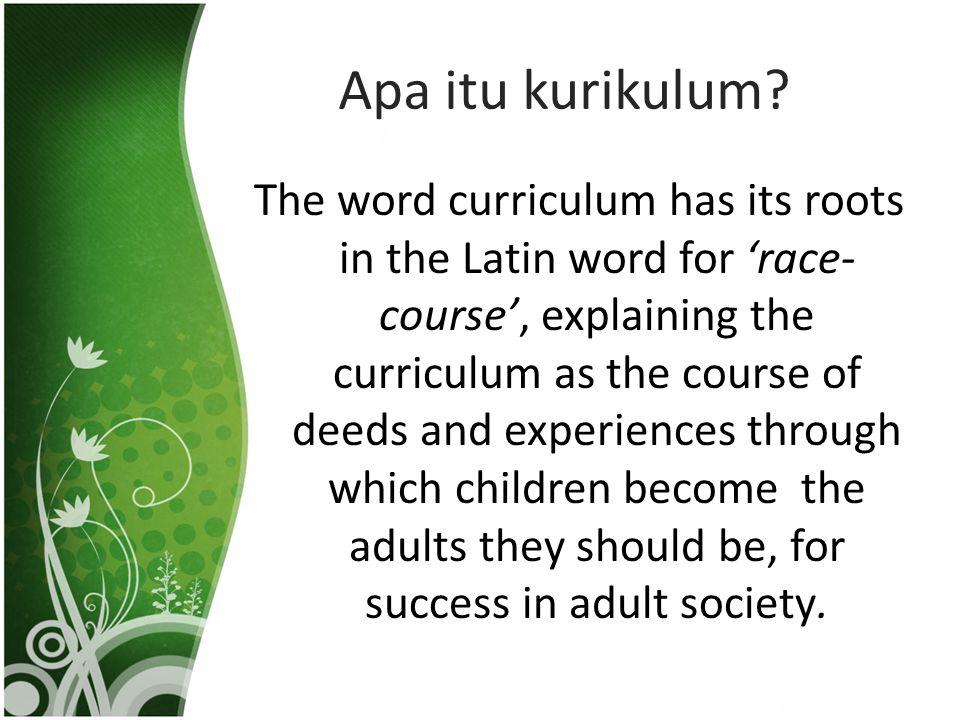 Apa itu kurikulum