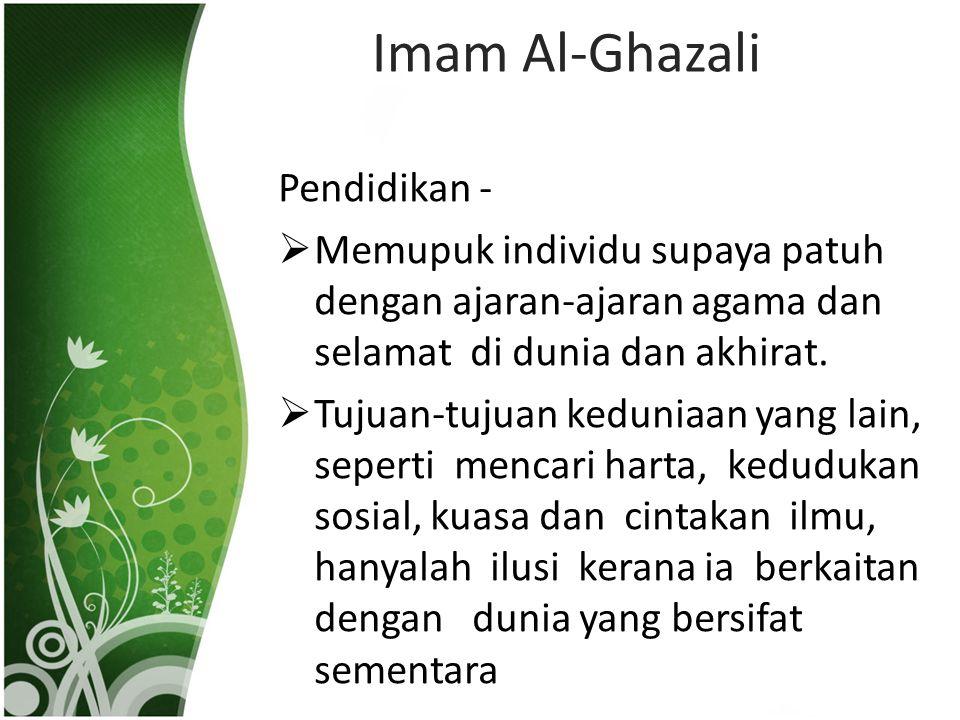 Imam Al-Ghazali Pendidikan -