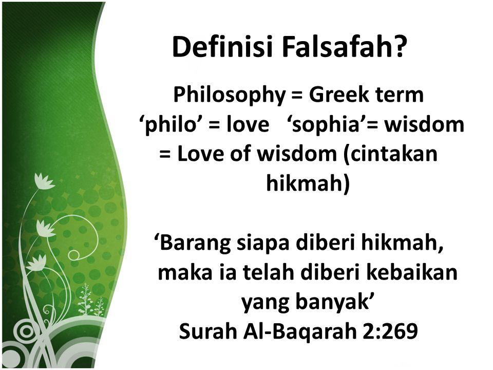 Definisi Falsafah